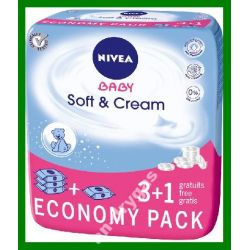 Nivea Baby Chusteczki Soft & Cream 3+1