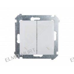 Simon54 Łącznik schodowy podwójny 10AX biały IP20 DW6/2.01/11 WMDL-0602xx-011