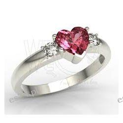 Srebrny pierścionek z serduszkiem