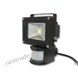 Naświetlacz LED FL10 10W 800lm 230V Lumenmax z Czujką Ruchu Biała Zimna