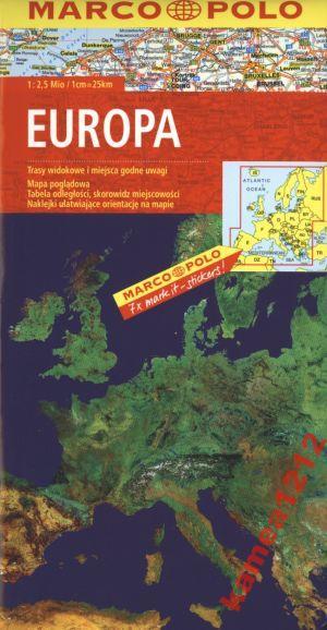 Europa Mapa Samochodowa Marco Polo Na Bazarek Pl