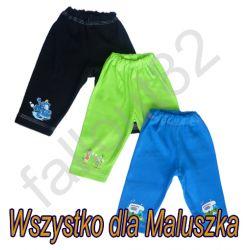 Spodnie spodenki 74 dresowe na gumce bawełna 100%