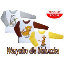 Bluzka bluzeczka sitodruk 74 aplikacje zwierzaki