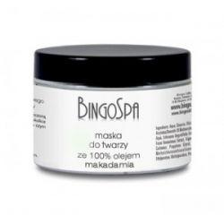 Maska do twarzy ze 100% olejem makadamia BingoSpa...