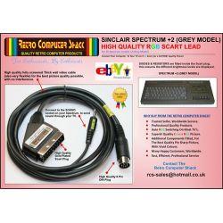 Sinclair ZX Spectrum +2 (Grey Model) RGB Scart TV Lead