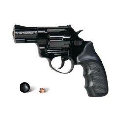 """Rewolwer ZORAKI R1 mod. K-10 6mm SHORT 2,5"""" - czarny z plastikowymi czarnymi okładzinami rękojeści"""