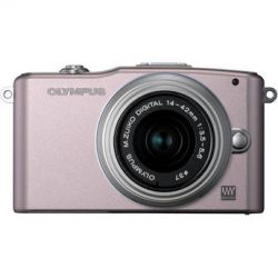 Olympus E-PM2 Mirrorless Digital Camera with M.ZUIKO 14-42mm f/3.5-5.6 Lens Bundle (Black)