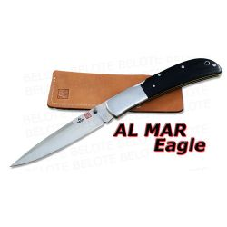 Al Mar EAGLE TALON Black Micarta Folder + Pouch 1005BMT
