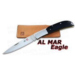 Al Mar EAGLE Black Micarta Folder w/ Pouch 1005BM NEW