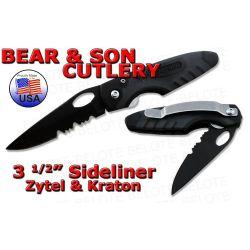 "Bear & Son 3.5"" Zytel Kraton Sidliner Serrated 7404TSR"