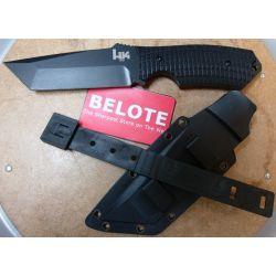 Benchmade Heckler & Koch HK Conspiracy Fixed Black Blade Knife Fine Edge14101BT