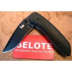 Benchmade Heckler & Koch HK Fugitive Folding Knife Fine Edge 14950BK