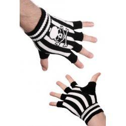 rękawiczki SKULLbez palców (AFG22) [REK-052]