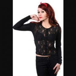 Black Lace Cardigan by Banned