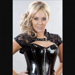 Black Lace Geisha Bolero with PVC Strap