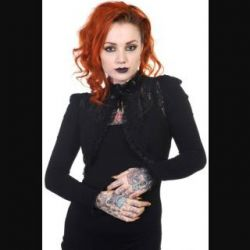 Black Lace Longsleeve Bolero by Banned