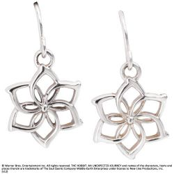 Srebrne Kolczyki Galadrieli z filmu Hobbit - Galadriel Flower Earrings