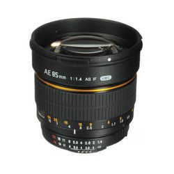 Bower 85mm f/1.4 Aspherical Lens with Focus Confirm ChipSLY85AE