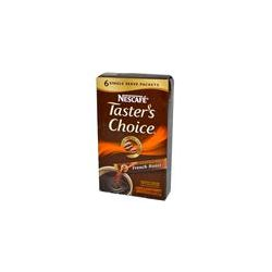 Nescafé, Taster's Choice, Instant Coffee, French Roast, 6 Packets, 0.07 oz (2 g) Each - iHerb.com