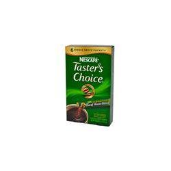 Nescafé, Taster's Choice, Instant Coffee, Decaf House Blend, 6 Packets, 0.07 oz (2 g) Each - iHerb.com