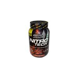 Muscletech, Nitro-Tech, Performance Series, Whey Isolate+ Lean Musclebuilder,Strawberry, 2 lbs (907 g) - iHerb.com