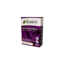 EZ Melts, Antioxidant Super Fruit Formula, Acai & Goji Berry, Natural Berry Flavor, 60 Slow Melting Tablets - iHerb.com