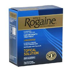 ROGAINE TOPICAL SOLUTION 3 MONTH SUPPLY MENS 5% MINOXIDIL EXTRA STRENGTH EXP2016