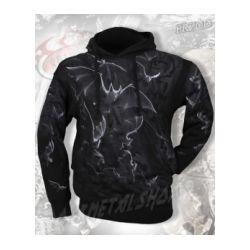 bluza BAT WRAP czarna, z kapturem