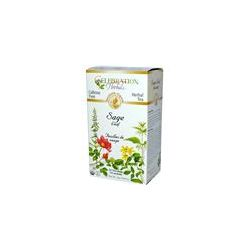 Celebration Herbals, Herbal Tea, Sage Leaf, Caffeine Free, 24 Tea Bags, 0.84 oz (24 g)