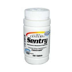 21st Century Health Care, Sentry, Multivitamin & Multimineral Supplement, 100 Tablets