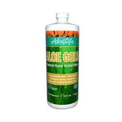 Aloe Life International, Inc, Aloe Gold, Natural Flavor Herbal Bitter, 32 fl oz (1 Quart)