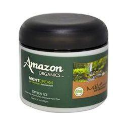 Amazon Organics, Night Cream, With Samambaia & Hyaluronic Acid, Revitalize, 4 oz (113 g)