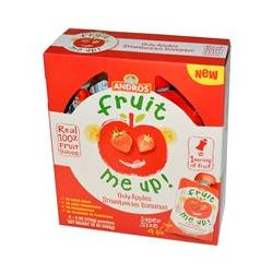 Andros Fruit Me Up!, Only Apples Strawberries Bananas, 4 Pouches, 4 oz (113 g)