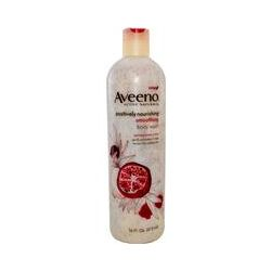 Aveeno, Active Naturals, Positively Nourishing, Smoothing Body Wash, Pomegranate + Rice, 16 fl oz (473 ml)