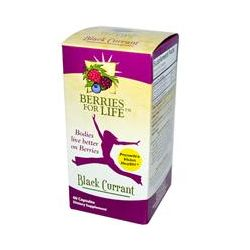 Berries for Life, Inc., Black Currant, 60 Capsules