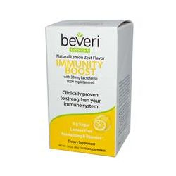 Beveri, Immunity Booster, Natural Lemon Zest Flavor, 10 Stick Packs, 1.6 oz (46 g)