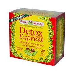 Breezy Morning Teas, Detox Express, 100% Pure & Natural Herb Tea, Caffeine Free, 20 Tea Bags, 1.15 oz