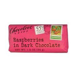 Chocolove, Raspberries in Dark Chocolate, 1.2 oz (34 g)
