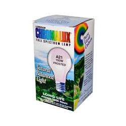 Chromalux, Full Spectrum Lamp, Frosted, A21 100W, 1 Bulb