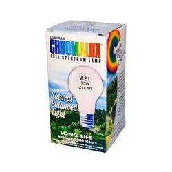 Chromalux, Lumiram, Full Spectrum Lamp, Clear, A21 75W, Clear, 1 Bulb