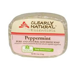 Clearly Natural, Essentials, Pure and Natural Glycerine Soap, Peppermint, 4 oz (113 g)