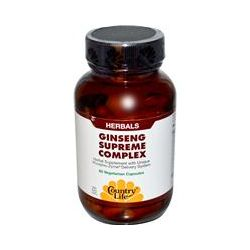 Country Life, Gluten Free, Ginseng Supreme Complex, 60 Veggie Caps