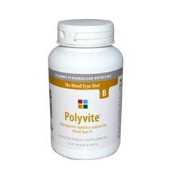 D'Adamo Personalized Nutrition, Polyvite, Multivitamin for Blood Type B, 120 Veggie Caps