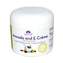 Derma E, Avocado and E Cream, Dry Skin Relief Formula, 4 oz (113 g)