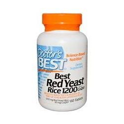 Doctor's Best, Best Red Yeast Rice 1200, with CoQ10, 1200 mg/30 mg, 60 Tablets