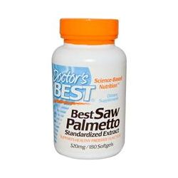 Doctor's Best, Best Saw Palmetto, Standardized Extract, 320 mg, 180 Softgels