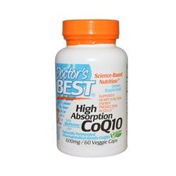 Doctor's Best, High Absorption CoQ10, with BioPerine, 600 mg, 60 Veggie Caps