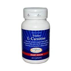 Enzymatic Therapy, Vitaline, L- Carnitine, Heart Health, 60 Caplets
