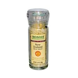 Frontier Natural Products, New Zealand Sea Salt, Gourmet Salt Grinders, 3.4 oz (96 g)