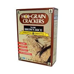 Hol Grain, Crackers, No Salt Brown Rice, 4.5 oz (127 g)